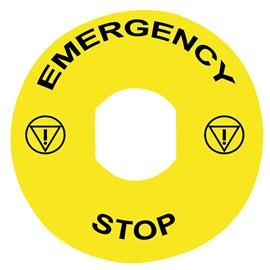 MARKED LEGEND Ø90 FOR EMERGENCY STOP EMERGENCY STOP/LOGO IS product photo