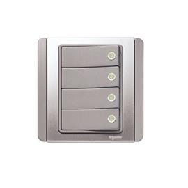 NEO C-METRO SWITCH WITH FLUORESCENT 10A 4G 2W GREY SILVER product photo
