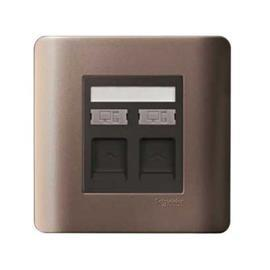 ZENCELO DATA OUTLET CAT 6 ON SHUTTERED WALLPLATE 2G SZ product photo