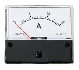BP-670 DC AMMETER 15A 60X70MM product photo
