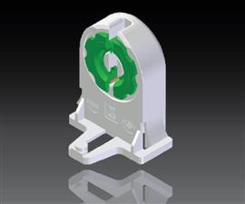 1 SERIES T8 FLUORESCENT LAMP HOLDER 2A 250V IP20 (SIRIM) product photo