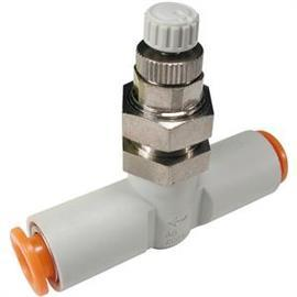 "AS SPEED CONTROLLER 1/8"" STANDARD W/FITTING 6MM TUBE OD product photo"