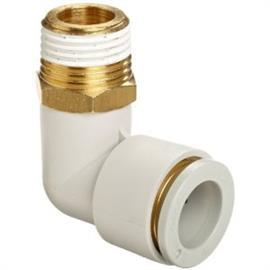 KQ2 PUSH-IN FITTING THREADED ANGLED 90° R 1/8 product photo