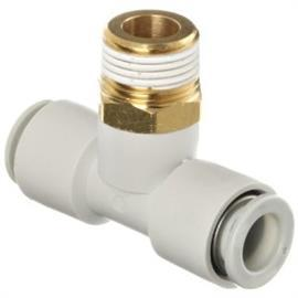 KQ2 TEE THREADED-TO-TUBE ADAPTER R 3/8 MALE 10 MM product photo
