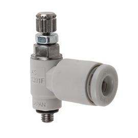 AS FLOW REGULATOR M3, M5 STANDARD ELBOW M3X0.5 4MM TUBE OD product photo