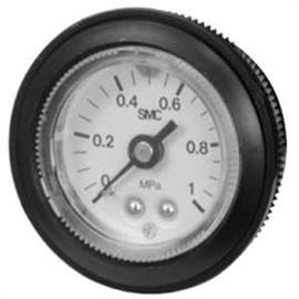 PRESSURE GAUGE W/LIMIT INDICATOR & COVER RING 1MPA R1/8 product photo