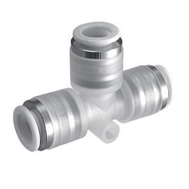CLEAR ONE TOUCH FITTING UNION TEE 4MM OD TUBE product photo