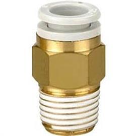 "KQ2 R 1/4 MALE THREADED-TO-TUBE ADAPTER 8MM 1/4"" product photo"