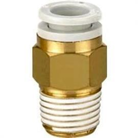 "KQ2 R 1/4 MALE THREADED-TO-TUBE ADAPTER 10MM 1/4"" product photo"