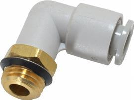 ELBOW THREADED-TO-TUBE ADAPTER UNI 1/4 MALE 8 MM product photo