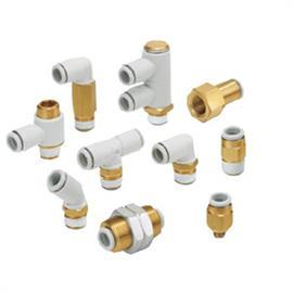 KQ2 TEE THREADED-TO-TUBE ADAPTER R 1/4 MALE 12MM product photo