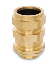 BRASS CABLE GLAND WITH LOCK NUT SIZE 25S product photo