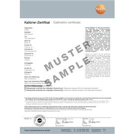 ISO CALIBRATION CERTIFICATE FOR FLUE GAS product photo