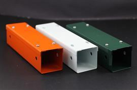 "EPOXY POWDER COATING METAL TRUNKING G22 3""X3"" ORANGE product photo"