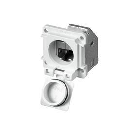IE-XM-RJ45/RJ45-IP67 MOUNTING COUPLING FLANGE STR IP67 CAT 5 product photo