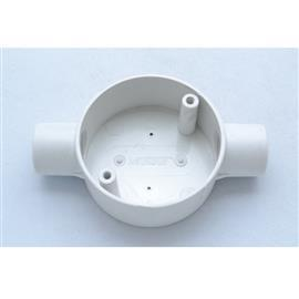 PVC BOX 2 WAY 20MM (3/4'') WHITE product photo